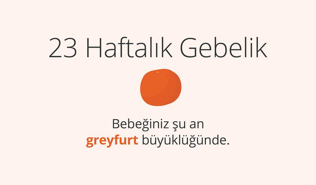 23. haftada bebek greyfurt büyüklüğünde