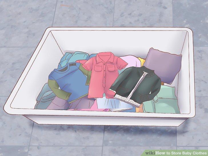 Bebeğinizin kıyafetlerini saklamak için plastik küvetleri de kullanabilirsiniz.