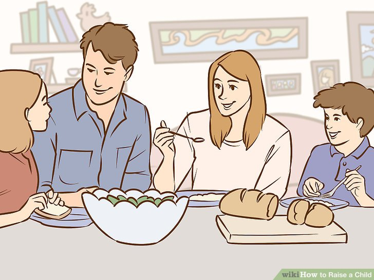 Ailecek akşam yemeği yiyin.