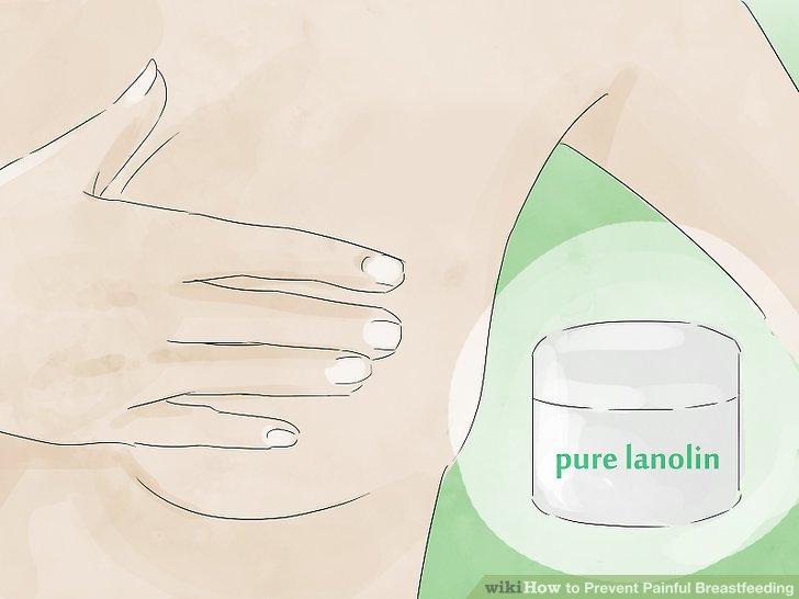 Lanolin ile çatlamış meme uçlarını iyileştirin.
